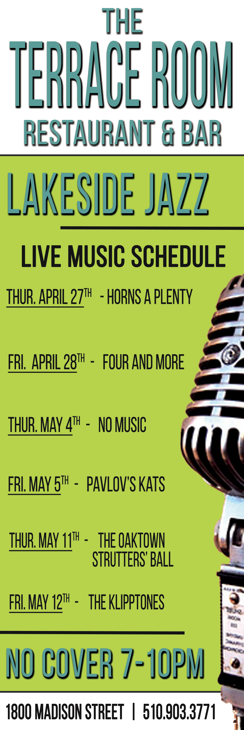 Live Music Schedule April 2017
